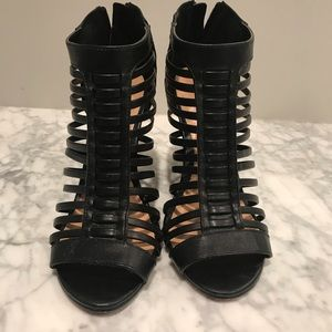 Express size 7 gladiator wedges